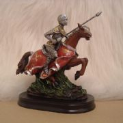 TOURNAMENT KNIGHT ON WOODEN STAND - No 2